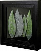 """Объёмное панно из стекла """"Листья"""""""