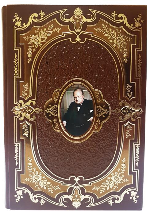 """Книга """"Уинстон Черчилль"""" в кожаном переплете ручной работы- 1"""
