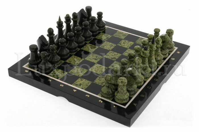 """Шахматы из змеевика """"Каменный век""""- 0"""