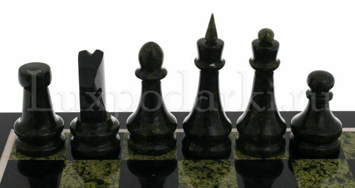 """Шахматы из змеевика """"Каменный век""""- 1"""