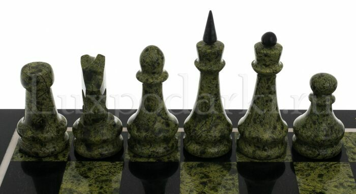 """Шахматы из змеевика """"Каменный век""""- 2"""