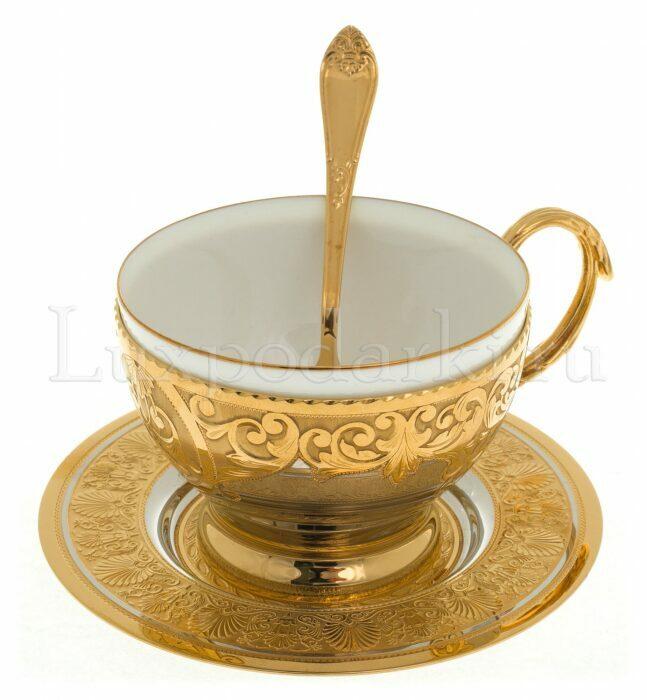 "Набор для чая на одну персону ""Цветок мака""- 0"