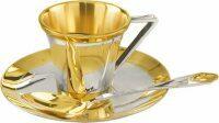 Чашка с блюдцем с золочением Русские самоцветы