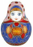 "Матрешка  Русские самоцветы ""Зима"""