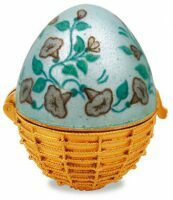 """Яйцо-шкатулка  Русские самоцветы """"Вьюнок в корзине"""""""