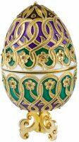 Яйцо-шкатулка с пиропами Русские самоцветы