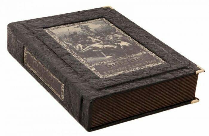"""Книга в кожаном переплете """"Библия в гравюрах Гюстава Доре"""" (в коробе)- 0"""