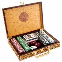 Кейс с набором для игры в покер