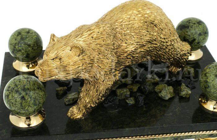 """Часы каминные """"Медведь""""- 1"""