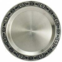 Серебряная тарелочка для фруктов Северная чернь