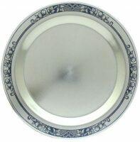 Тарелочка серебряная для охотничьего набора Северная чернь