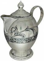 Серебряный чайник Северная чернь