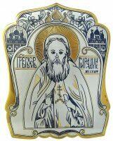 """Икона серебряная  Северная чернь """"Сергий Радонежский"""""""