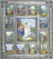 """Икона """"Воскресение Христово"""" (финифть)"""