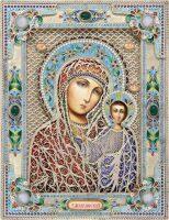 Казанская икона Божией Матери с камнями (финифть)