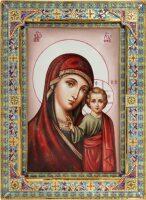 Казанская икона Божией Матери с малыми углами (финифть)