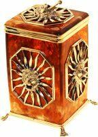 """Коробка для чая из янтаря """"Цезарь"""""""