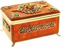 """Коробка для чая из янтаря """"Восточная сказка"""""""