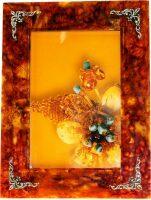 Рамка для фото из янтаря