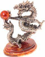 """Сувенир из янтаря """"Танцующий дракон"""""""