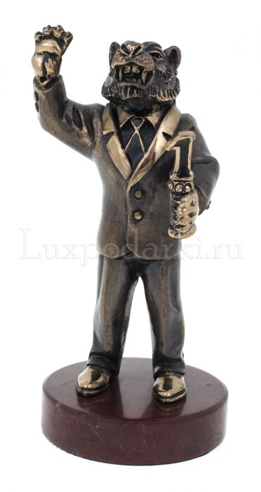 "Скульптура бронзовая ""Тигр - лидер""- 0"