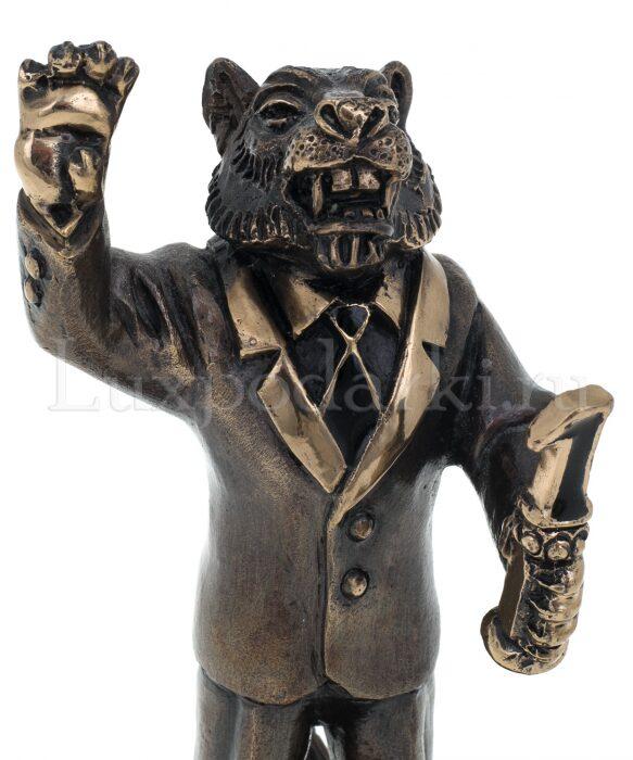 "Скульптура бронзовая ""Тигр - лидер""- 4"