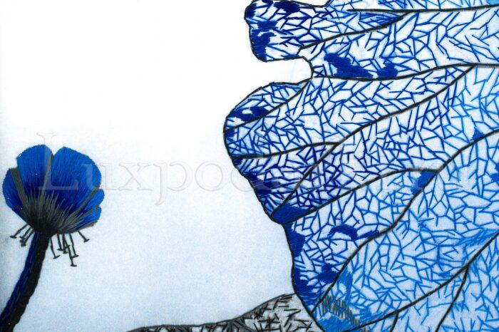 """Картина на шелке """"Лотосы. Сияние ночи""""- 3"""