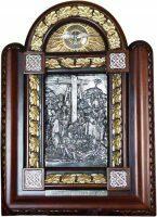 """Икона серебряная """"Снятие с креста Иисуса Христа"""""""