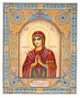 Икона Божией Матери Семистрельная (финифть)