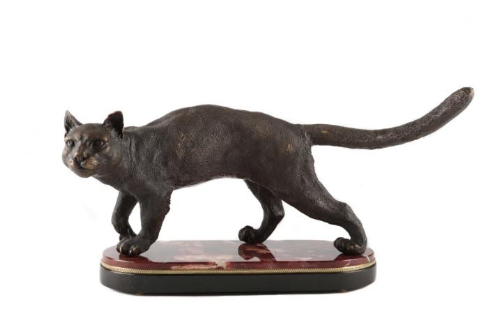 "Скульптура бронзовая ""Кошка""- 1"