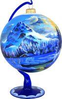 """Ёлочный шар на подставке """"Горы"""""""