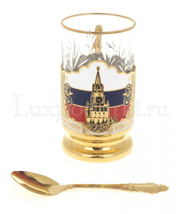 """Подстаканник """"Триколор. Кремль"""" (Златоуст)- 1"""