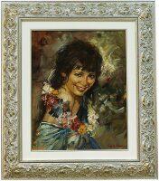 """Картина  Art Atelier """"Смеющаяся девушка""""  L. Da Velasca"""