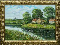 """Картина  Art Atelier """"Домик на берегу реки""""  Da Mari"""