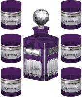 Набор для виски (графин + 6 бокалов), цвет: фиолетовый Linea Argenti