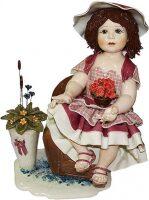 "Статуэтка  Zampiva ""Кукла с цветами сидящая на кресле"""