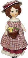 """Статуэтка  Zampiva """"Кукла с темными волосами с цветами"""""""