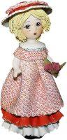 "Статуэтка  Zampiva ""Кукла со светлыми волосами с розами"""