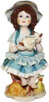 """Статуэтка  Zampiva """"Кукла с медведем сидящая на стуле"""""""
