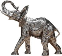 "Скульптура  Euro FAR ""Слон"" , цвет: серебро"
