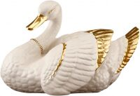 """Статуэтка  Ahura """"Лебедь""""  большая, цвет: сл.кости"""