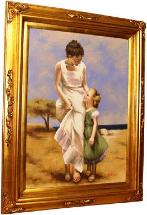 """Картина  Bertozzi Cornici """"Мама с дочкой у моря"""" - 0"""
