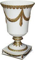 Кубок, цвет: белый матовый, с золотой матовой отделкой Cattin