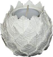 """Подсвечник маленький  Ceramiche Dal Pra """"Листья"""" , цвет: белый"""