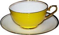 """Набор из 6-ти чайных пар  Glance """"Классика"""" , желтый"""