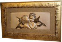 """Декоративное панно  Linea Argenti """"Ангелы"""" , рамка золотого цвета"""