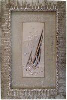 """Картина  Linea Argenti """"Парусник""""  с декором серебряного цвета"""