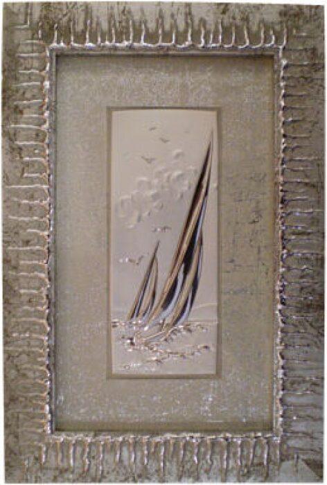 """Картина  Linea Argenti """"Парусник""""  с декором серебряного цвета- 0"""