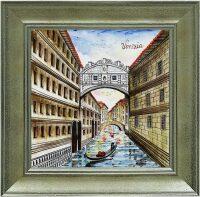 "Картина  Millennio ""Ponte dei Sospiri""  с рамкой"
