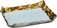 """Поднос MPM """"Волны"""" , цвет: белый с золотым"""